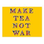 Make Tea Not War Postcard