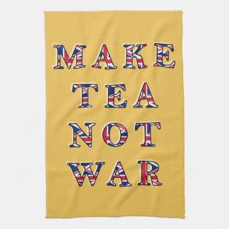 Make Tea Not War UK Flag Pattern Kitchen Towel