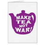 Make Tea Not War v11 Greeting Card