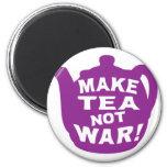 Make Tea Not War v11 Refrigerator Magnets