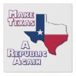 Make Texas A Republic Again Faux Canvas Print