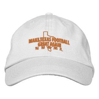 Make Texas Football Great Again Embroidered Baseball Cap