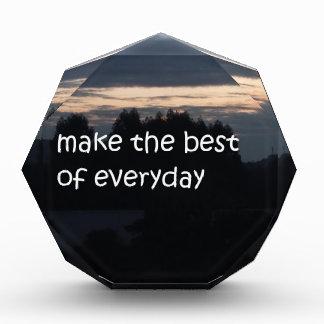 make the best of everyday acrylic award