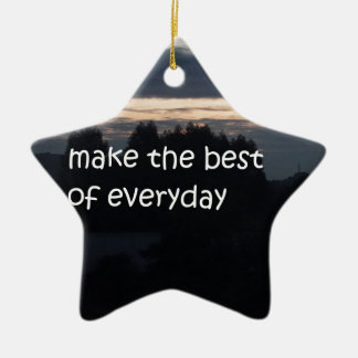 make the best of everyday ceramic ornament