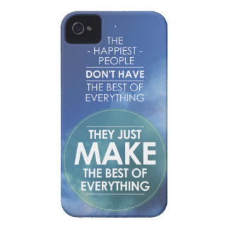 Make the best of everything quote iPhone 4 Case-Mate case