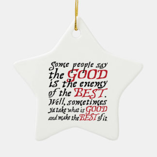 Make the Best of it in Black and Red Christmas Ornament