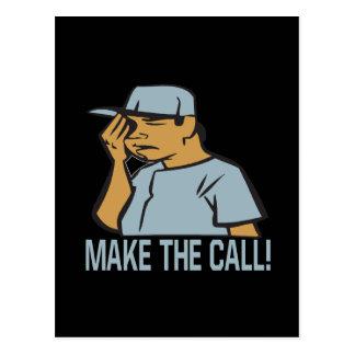 Make The Call Postcard