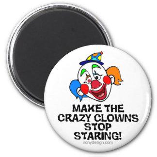 Make the Crazy Clowns 2 Inch Round Magnet