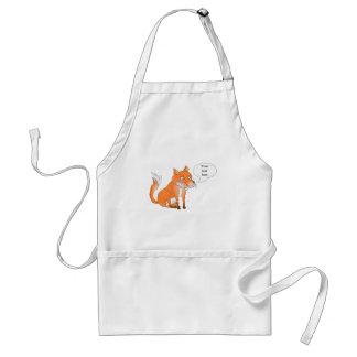 Make the fox say whatever you like adult apron