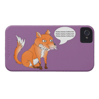 Make the fox say whatever you like Case-Mate iPhone 4 case