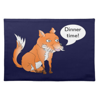Make the fox say whatever you want cloth placemat