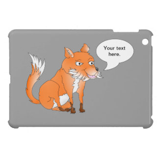 Make the fox say whatever you want cover for the iPad mini