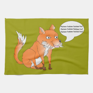 Make the fox say whatever you want towels