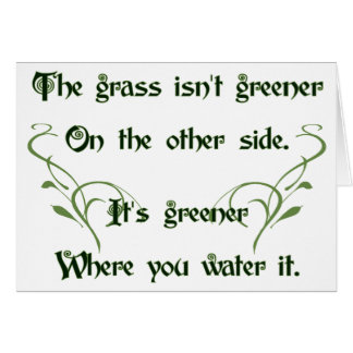 Make the Grass Greener Card