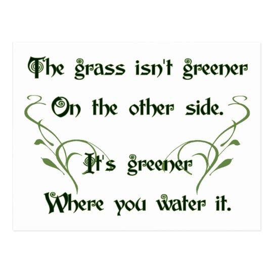 Make the Grass Greener Postcard