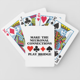 Make The Neuronal Connections Play Bridge Bicycle Playing Cards