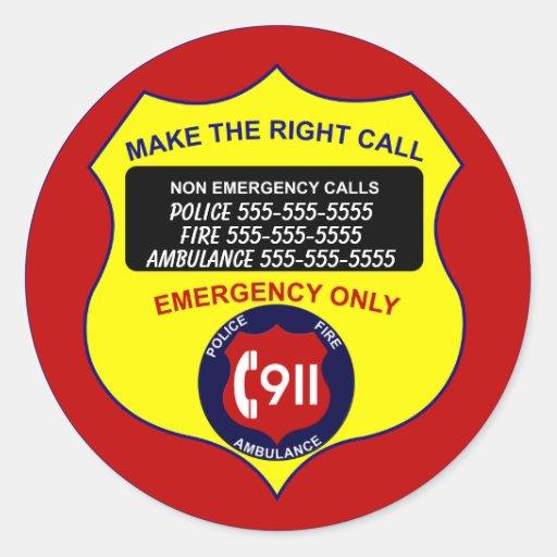 Make The Right Call -911 Sticker