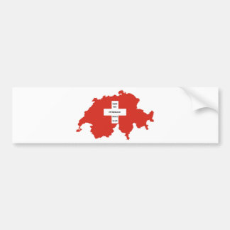 make the switzerland great again bumper sticker