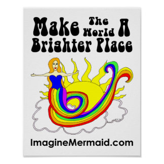 Make The World A Brighter Place Hope Mermaid Promo Poster
