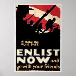 Make The World Safe ~ Enlist Now Poster