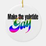 Make the yuletide GAY Christmas Tree Ornament