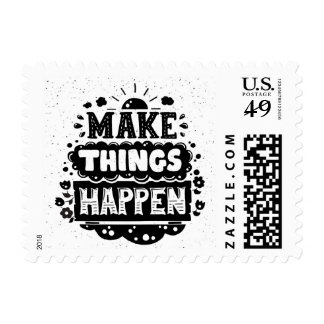 Make Things Happen Postage Stamp