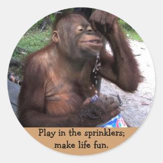 Make Time for Fun Round Sticker