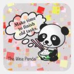 Make time to finish old tasks square sticker