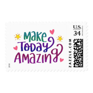 Make Today Amazing Inspirational Greeting Stamp