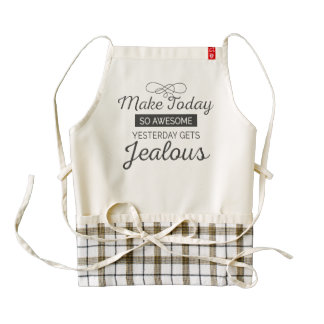 Make today awesome motivational quote zazzle HEART apron