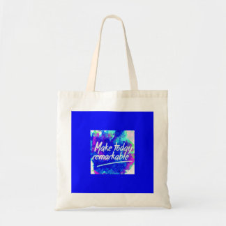 MAKE TODAY REMARKABLE ATTITUDE MOTIVATION QUOTES M TOTE BAGS