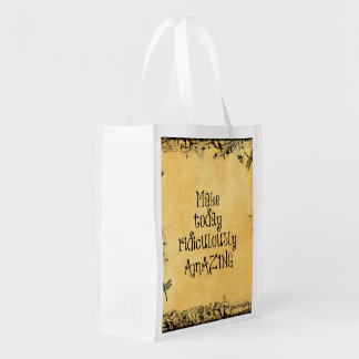 Make Today Ridiculously Amazing Life Quote Reusable Grocery Bag
