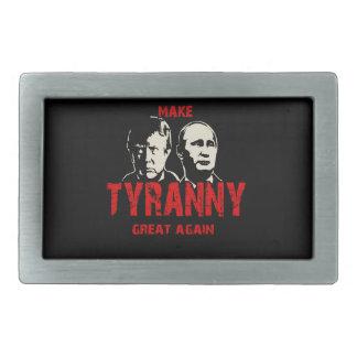 Make tyranny great again rectangular belt buckle