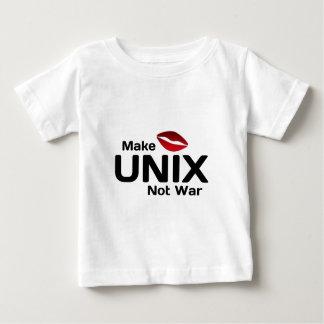 Make UNIX Not War Baby T-Shirt