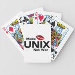 Make UNIX Not War Bicycle Card Deck