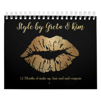 Make Up and Nail Stylist Coupon Promotion Calendar
