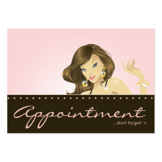 Make up Artist Appointment Card Pretty Pink Woman Large Business Card