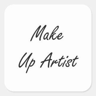 Make Up Artist Artistic Job Design Square Sticker