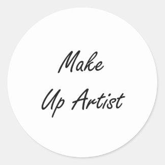 Make Up Artist Artistic Job Design Classic Round Sticker