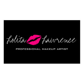 Make Up Artist Beautiful Cosmetology Salon Double-Sided Standard Business Cards (Pack Of 100)