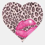 Make up Artist Beauty Leopard Sticker Pink 2