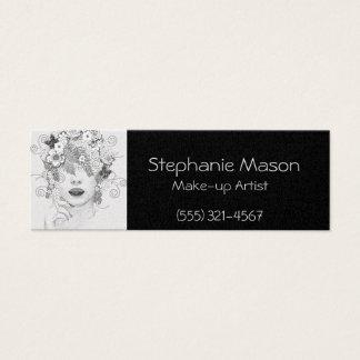 Make-up Artist Black Business card