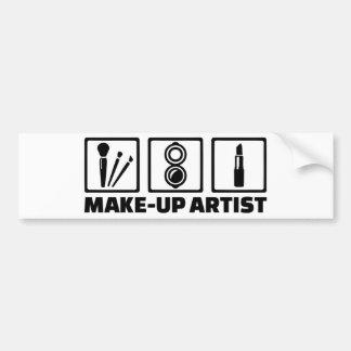 Make-up artist bumper sticker
