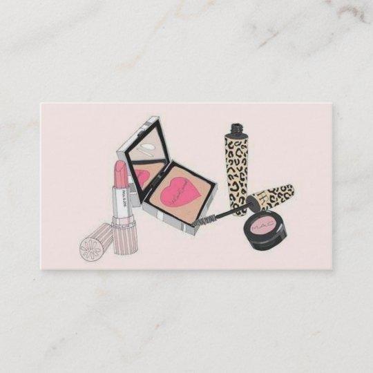 Makeup artist business cards vintage