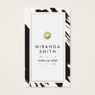 Make Up Artist Business Card - Chic Brushstrokes