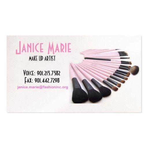Make-Up Artist Business Card Sample II