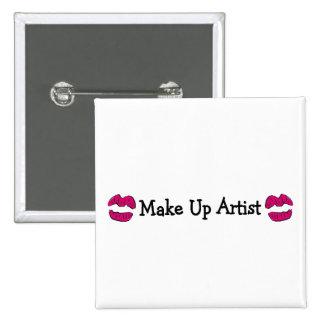 Make Up Artist Pinback Button