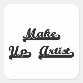 Make Up Artist Classic Job Design Square Sticker