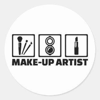 Make-up artist classic round sticker