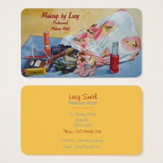 make up artist design retro make up bag beauticans business card